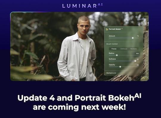 Skylum Luminar AI update 4 coming next week