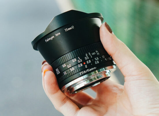 Announced and available for pre-order: TTartisan 7.5mm f/2 fisheye APS-C lens