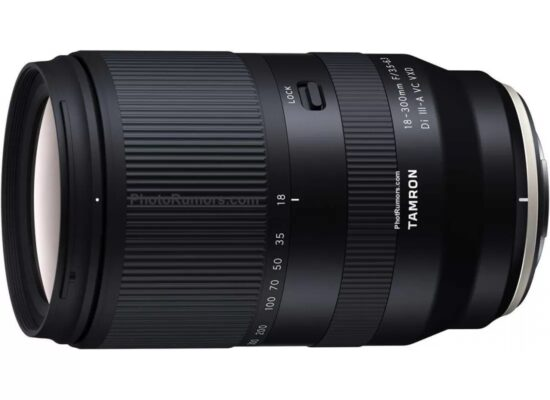 The Tamron 18-300mm f/3.5-6.3 Di III-A VC VXD will be the company's first lens for Fuji X-mount (press release included)