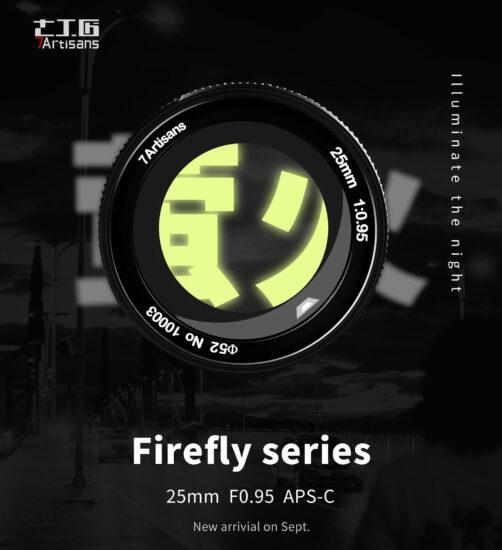 New 7Artisans 25mm f/0.95 APS-C lens teaser