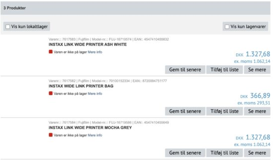 New FujiFilm Instax Link WIDE printer leaked online