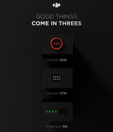 New DJI teaser for 3 upcoming products