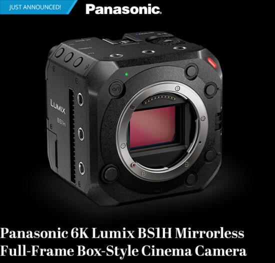 Announced: Panasonic 6K Lumix BS1H mirrorless full-frame box-style cinema camera (L-mount)