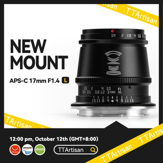 The new TTartisan 17mm f/1.4 APS-C lens for L-mount is now available